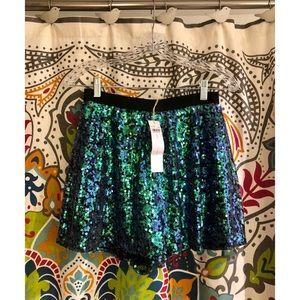 bcbgeneration Sequin green dress evening shorts